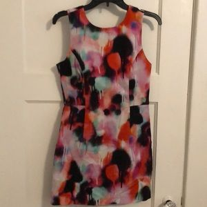 French Connection paint splatter dress